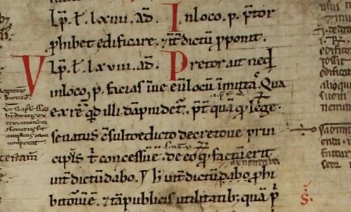 Detailaufnahme Utrecht UB, ms. fragm 7.67