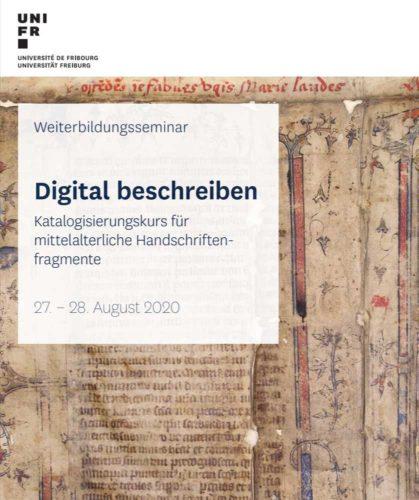 """Umschlag Kursbroschüre Digital beschreiven"""" (Detail) - Quelle: Universuité Fribourg, www.unifr.ch"""