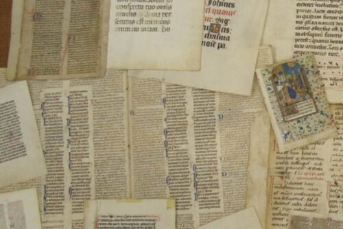 Photograph with both manuscript and print fragments - images osurce: Rare Book School, Charlottesville, VA