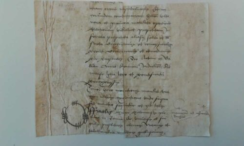 Fragmente eines Prozess am Niederrhein - UB Utrecht, Hs. fr. 6.92