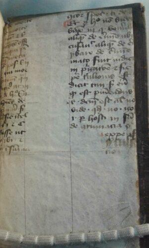Ein kanonistisches Fragment im Einband - UB Utrecht, E. oct 122