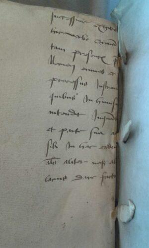 Ein Bruchstuck eines Prozessdokuments im Einband - UB Utrecht, 108 N 9