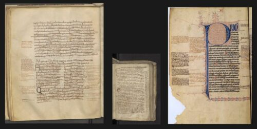 An example of a glossed manuscript