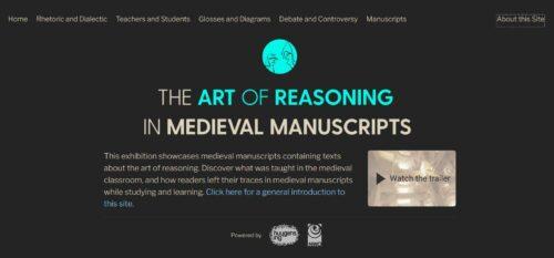 "Startscreen ""The art of reasoning"" (screenprint)"